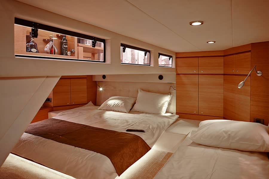 Steering a Brioni 44 plus yacht